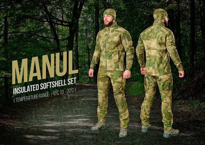 "LOGO_""MANUL"" - Insulated Softshell Set (temperature range +10C° to -20C°)"