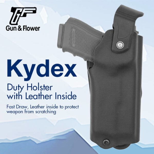 LOGO_Polymer Gun Holster with Double Mag Pouch