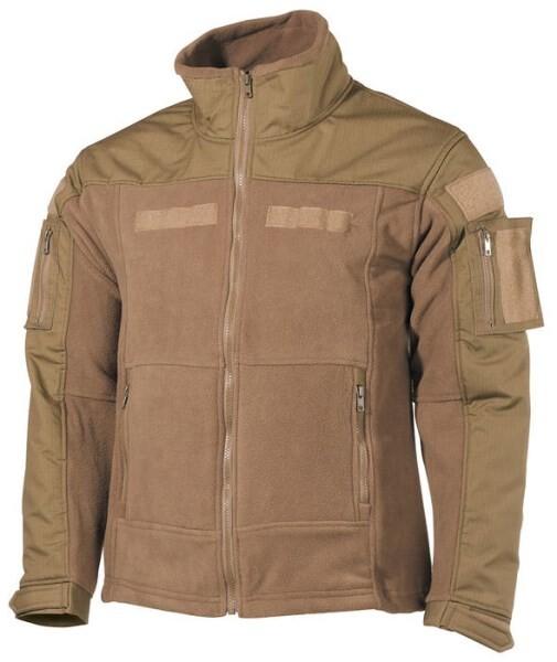 """LOGO_Fleece Jacket, """"Combat"""", coyote tan"""
