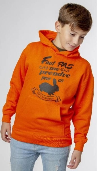 LOGO_Hooded sweatshirt for children with front chest print