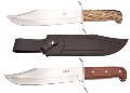 LOGO_Fix blade knife 440 steel with leather sheath