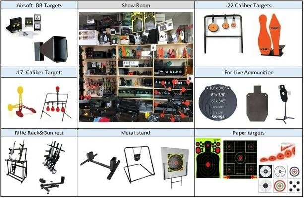 LOGO_shooting targets ,metal stand ,other shooting accessories.