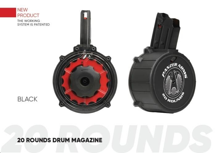 LOGO_PANZER 20 ROUNDS DRUM MAGAZINE