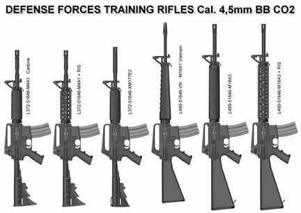 LOGO_AR15 Type CO2  Cal. 4,5mm Steel BB (.177) Rifle
