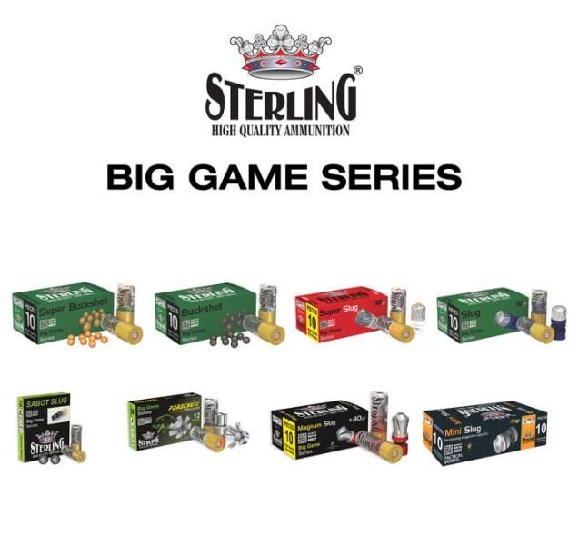 LOGO_STERLING 12 GAUGE BIG GAME SERIES