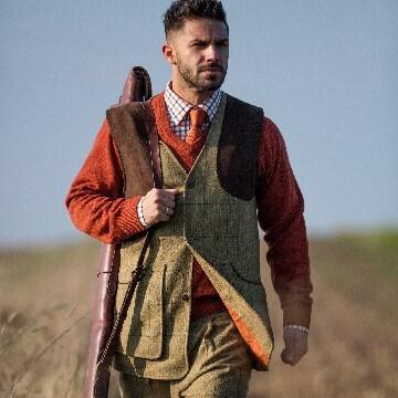 LOGO_Alan Paine Combrook Tweed Shooting Waistcoat & Breeks in New Colour Elm