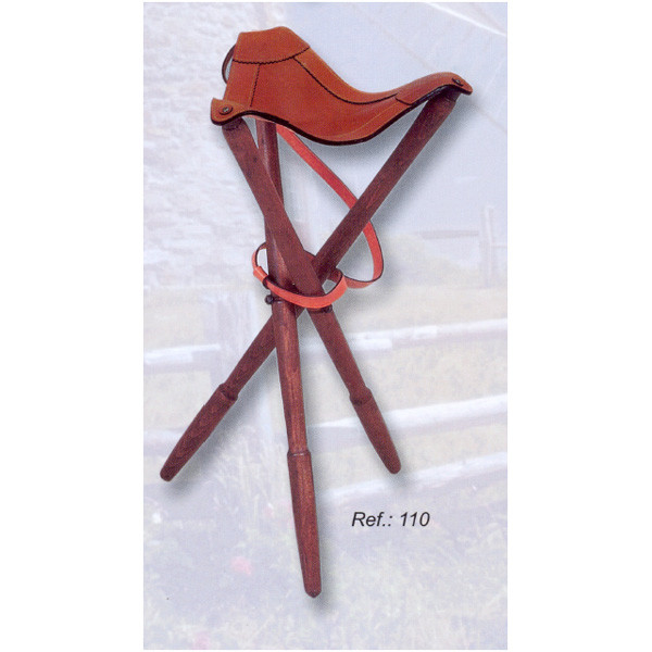 LOGO_High Tripod Leather Stool