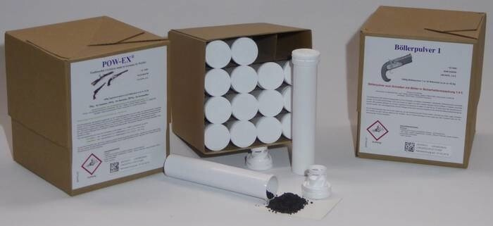 LOGO_Schwarzpulver in Saftey-Tubes für besseren Transport und Lagerung