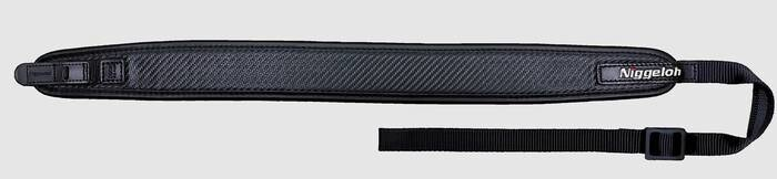 "LOGO_Rifle Sling ""UNIVERSAL"" Leather CARBON with Quick Releases"