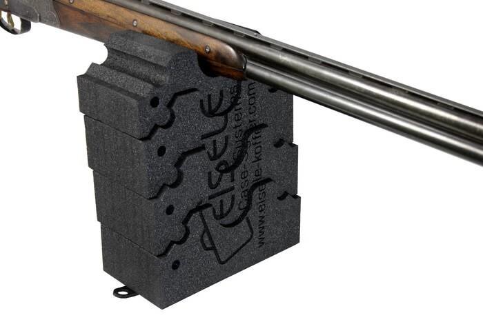 LOGO_Gewehrauflage mit Gummiplatte für den sicheren Stand; variabel in der Höhe