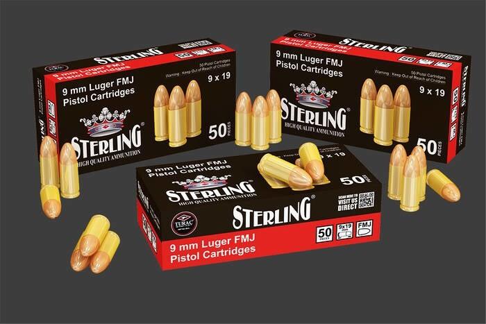 LOGO_STERLING 9MM LUGER FMJ PISTOL CARTRIDGE