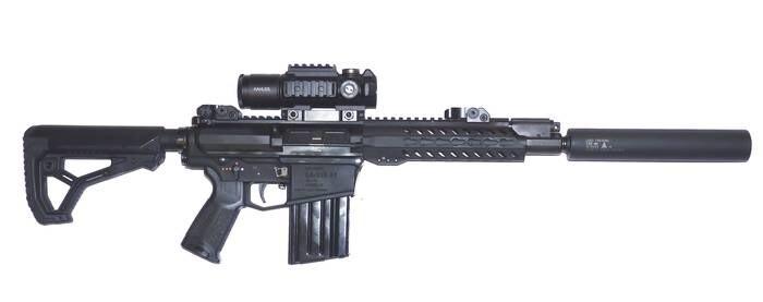 LOGO_Gewehr LA-110 A2, Kal. 7,62 x 51 mm, inkl. Schalldämpfer
