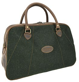 LOGO_Waterproof Loden and leather travel bag