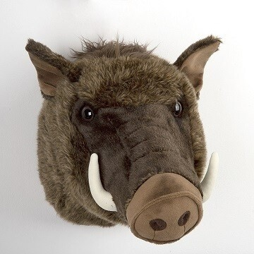 LOGO_Boar head trophy plush