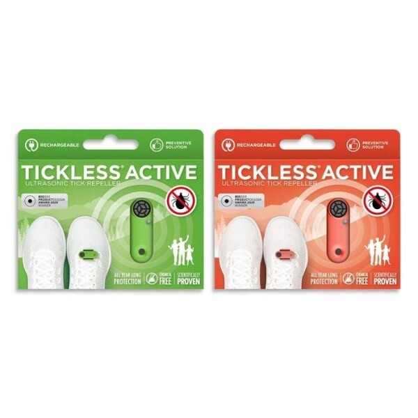 LOGO_New** Tickless Active ultrasonic tick repeller for all ages, rechargeable