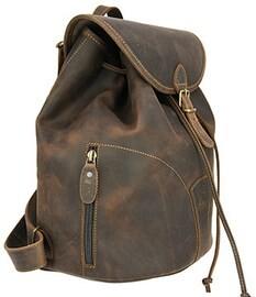 LOGO_Waterproof leather backpack