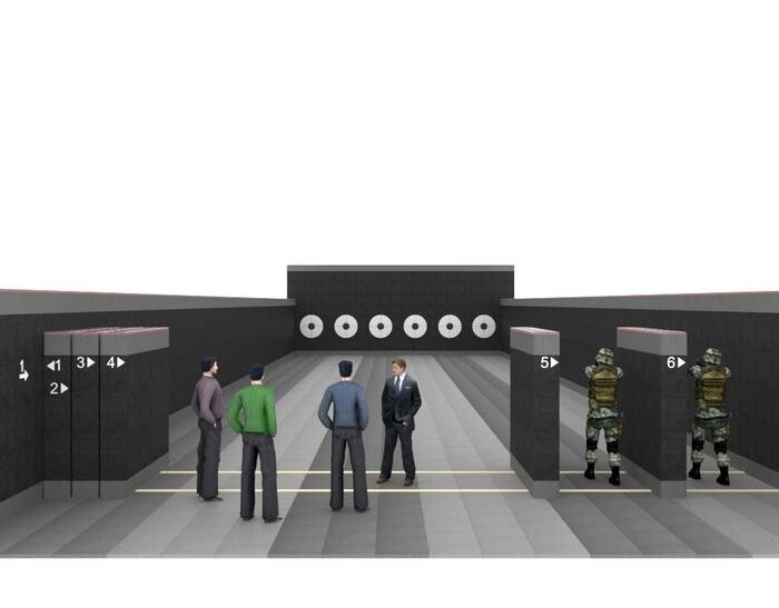LOGO_RUBOX system equipment of free-standing shooting ranges and facilities