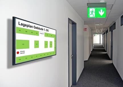 LOGO_Anzeige von unterschiedlichen Informationen für Raum- oder Gebäudemanagement