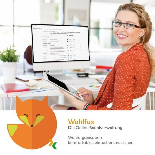 """LOGO_Online-Wahlverwaltung """"Wahlfux"""""""