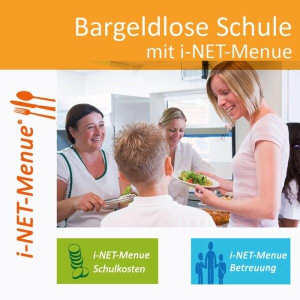 LOGO_i-NET-Menue: Internetbasiertes Kassen- / Abrechnungssystem für die bargeldlose Schule (Schulverpflegung, Schulkosten, Betreuung)