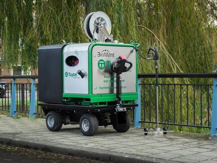 LOGO_BioMant Compact BE Heißwassergerät zur Wildkrautbeseitigung / Unkrautbeseitigung auf Elektrokarre