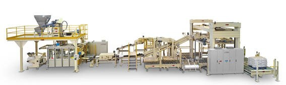 """LOGO_CONTINUA"""" FFS MACHINE WITH SIX LINEAR POSITIONS FOR HANDLING PURE CEMENT"""