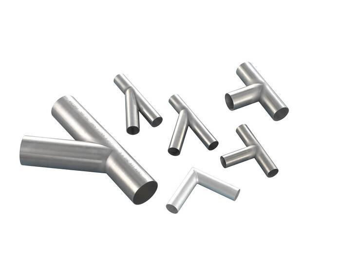 LOGO_Stainless steel branch pipes / T-pieces