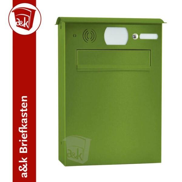 LOGO_Briefkasten Edelstahl Durchwurf Farbe nach Wahl inklusive Sprechgitter