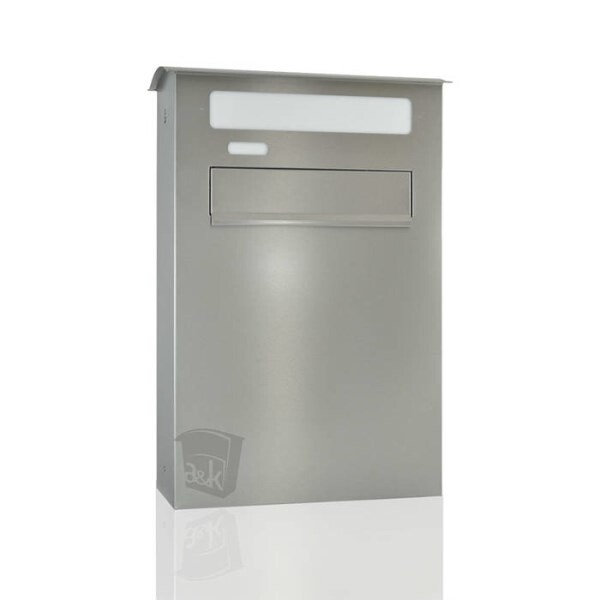 LOGO_Letterbox for companies - extra big - stainless steel