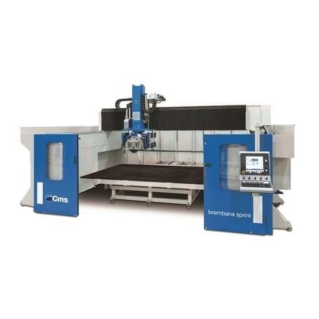 LOGO_BREMBANA SPRINT: Large-sized 5-interpolated-axis bridge sawing machine
