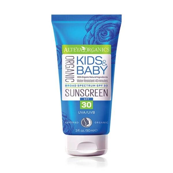 LOGO_Bio-Sonnencreme Kids & Baby - breites Spektrum, Lichtschutzfaktor 30, wasserfest 40 min
