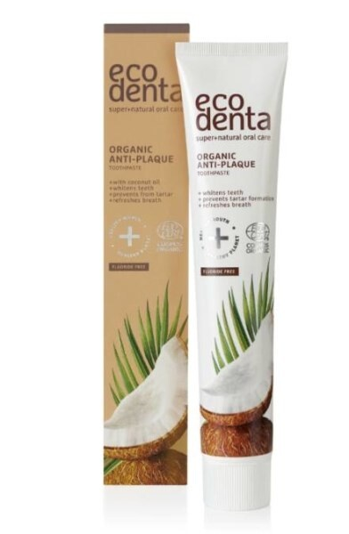 LOGO_ECODENTA COSMOS ORGANIC Anti-Plaque Zahnpasta mit Kokosöl 75ml