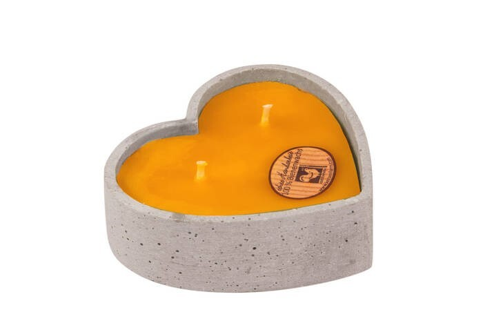 LOGO_heart made from stone ware filled with 100% pure bees wax