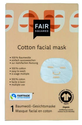 LOGO_FAIR SQUARED Cotton Facial Mask