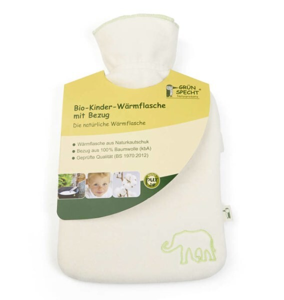 LOGO_Organic Hot Water Bottle with Cover for Children
