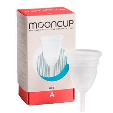 LOGO_Mooncup® - the original, silicone menstrual cup. Certified by the Vegan Society