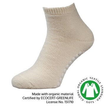 LOGO_Elia Yoga Socks, Organic Fibre and stopper, 70% organic wool +30% Silk