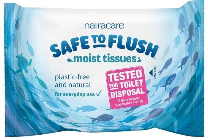 LOGO_SAFE TO FLUSH Feuchtes Toilettenpapier