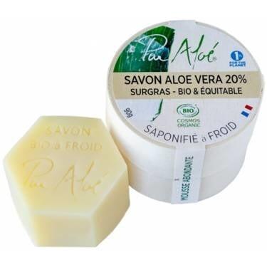 LOGO_Soap - 20% Aloe Vera - Cold saponification - 90g