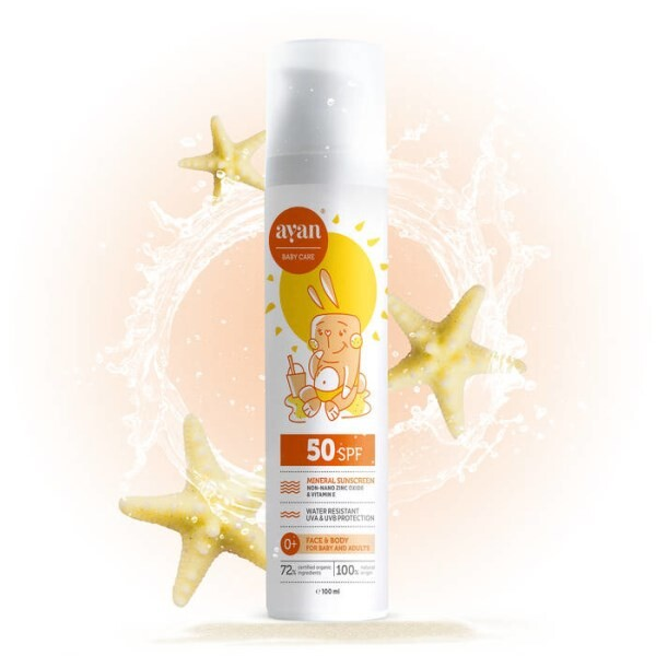 LOGO_AYAN® Mineral Sunscreen Lotion SPF50 with non-nano zinc oxide and Vitamin E