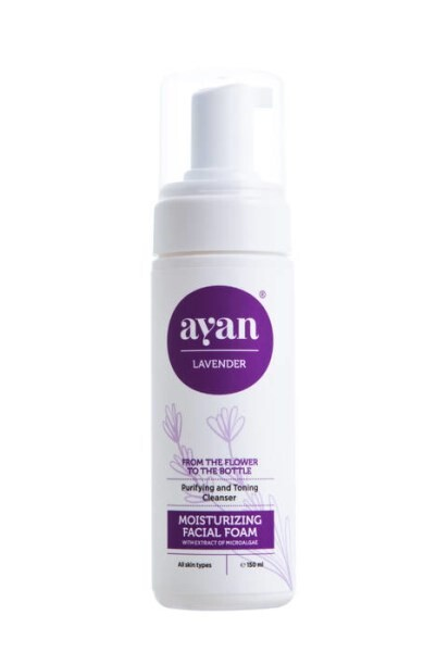 LOGO_AYAN® MOISTURIZING FACIAL FOAM with extract of Microalgae, Lavender and Rose
