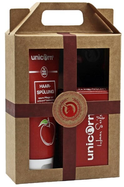LOGO_Geschenkset unicorn® Haarseife 100 g + Spülung 150 ml