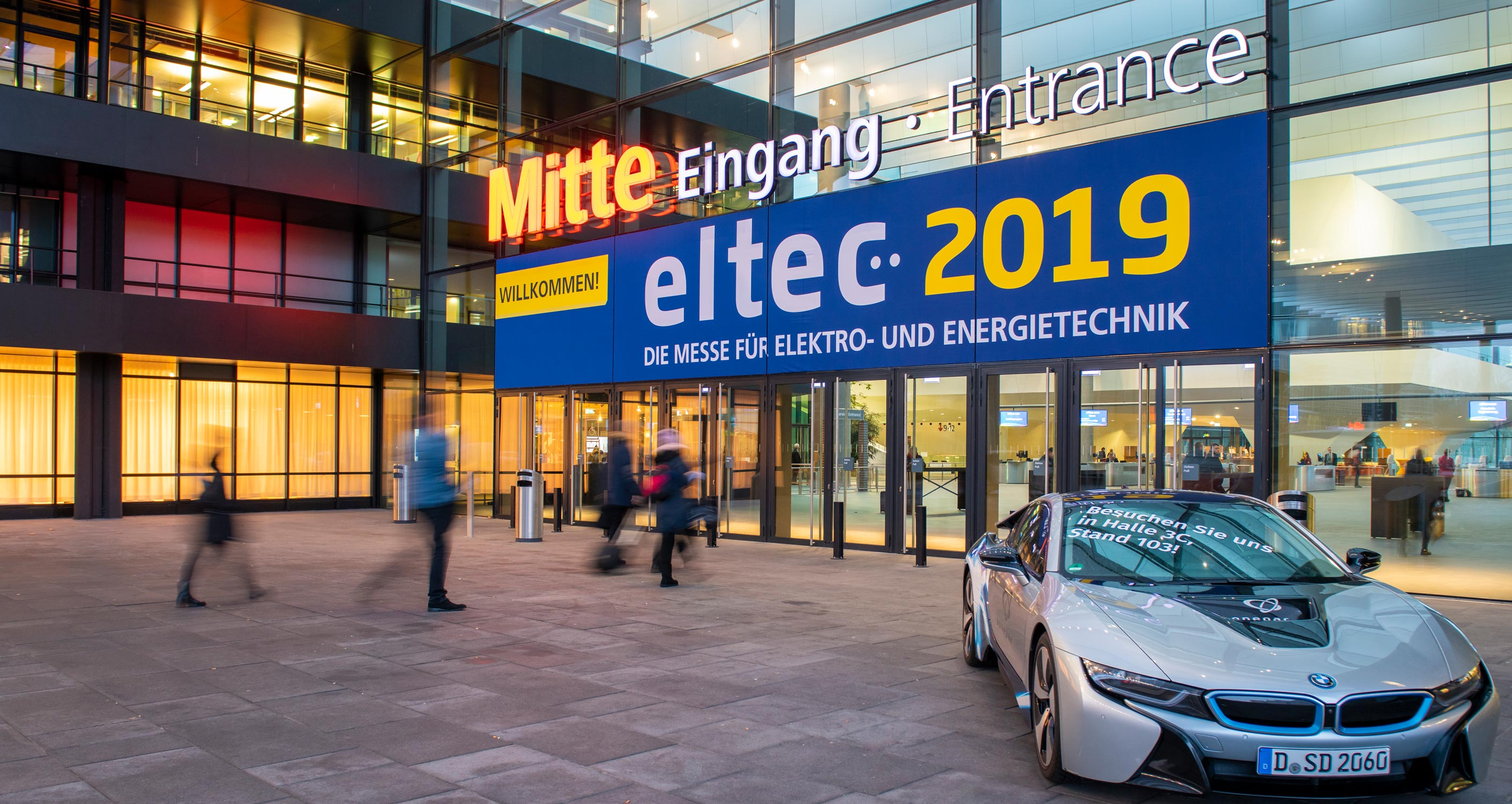 Rückblick eltec 2019 - Eingang Mitte