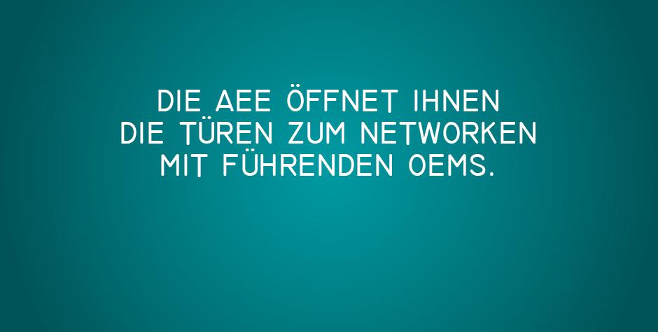 Networken mit führenden OEMs auf der AEE
