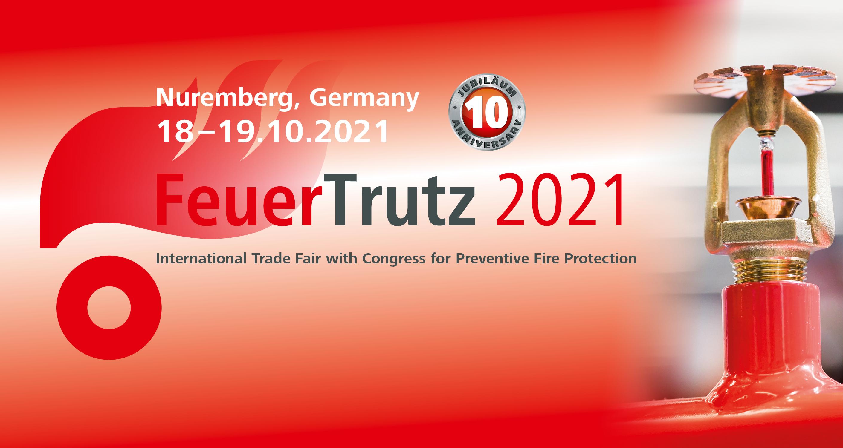 FeuerTrutz 2021 - Become an exhibitor now!